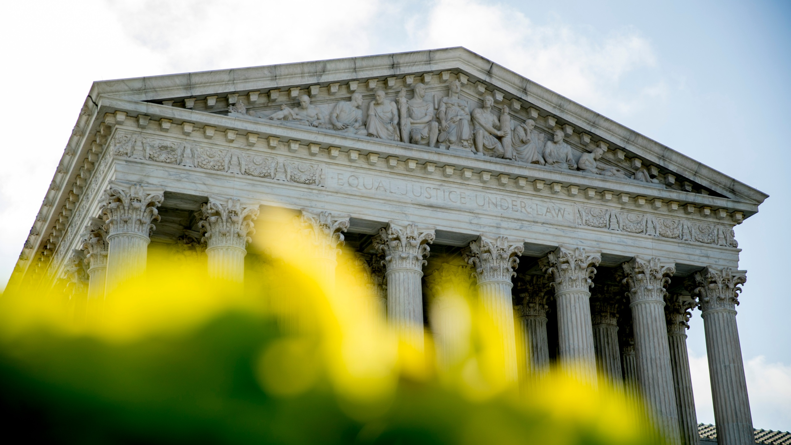The Supreme Court building is seen on July 9, 2020, in Washington. (Andrew Harnik / Associated Press)