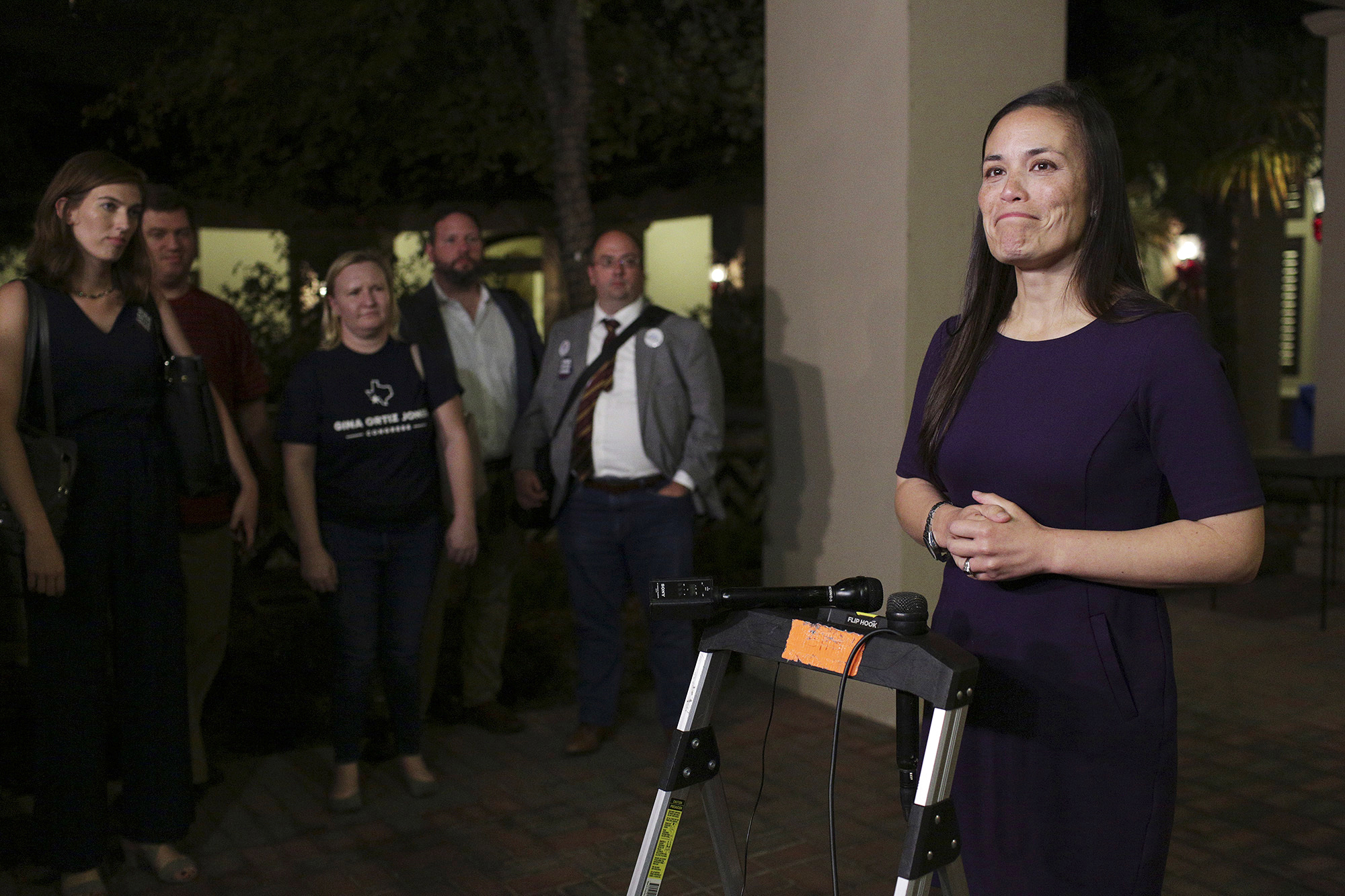 In this Tuesday, Nov. 6, 2018, file photo, Gina Ortiz Jones speaks to the media in San Antonio. Ortiz Jones is among the LGBTQ candidates with a solid chance of winning a congressional seat in November 2020. (Lisa Krantz/The San Antonio Express-News via AP, File)