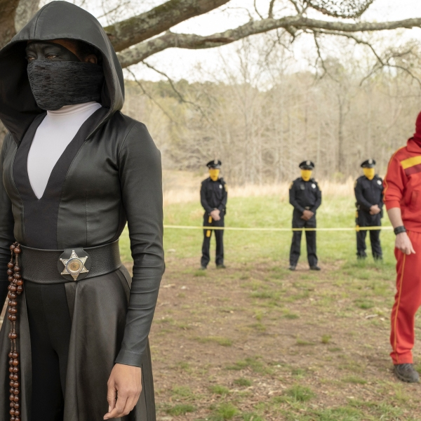 """This image released by HBO shows Regina King in a scene from """"Watchmen.""""(Mark Hill/HBO via AP)"""