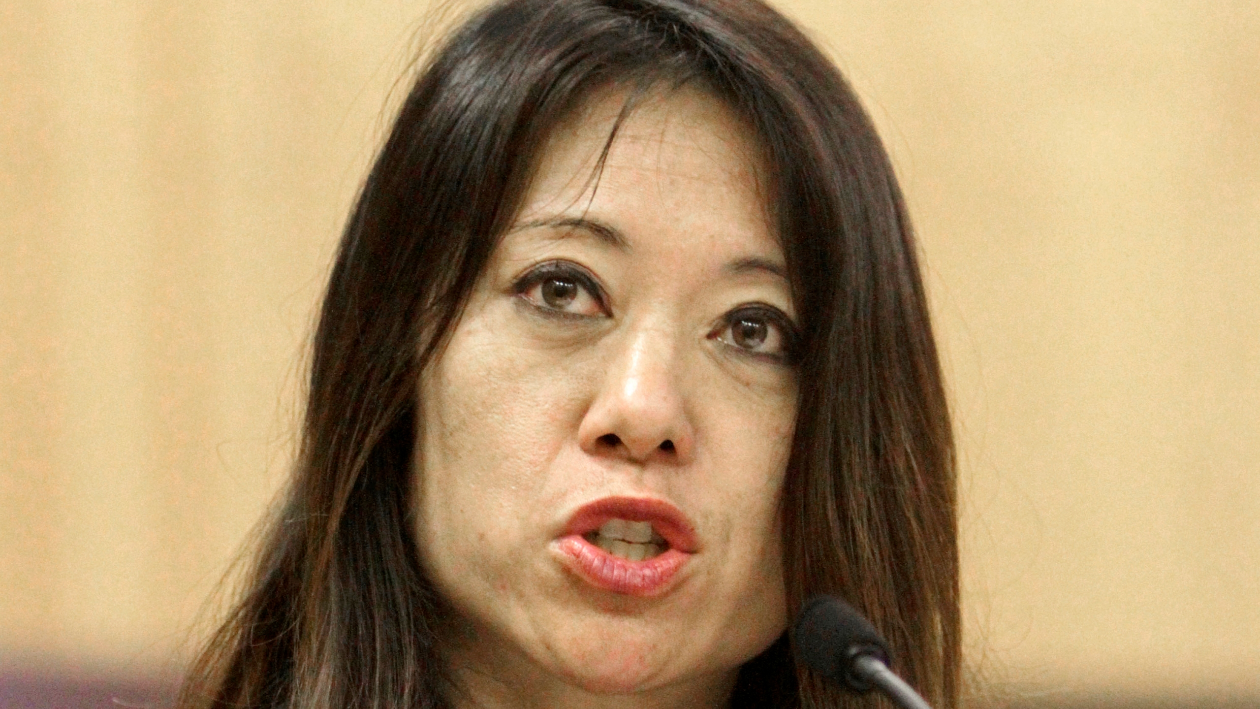 Then-Assemblywoman Fiona Ma speaks at a hearing at the Capitol in Sacramento on June 14, 2011. She is now California's treasurer. (Rich Pedroncelli / Associated Press)