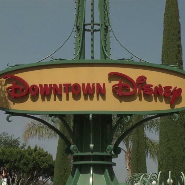 A Downtown Disney sign is seen in file video.