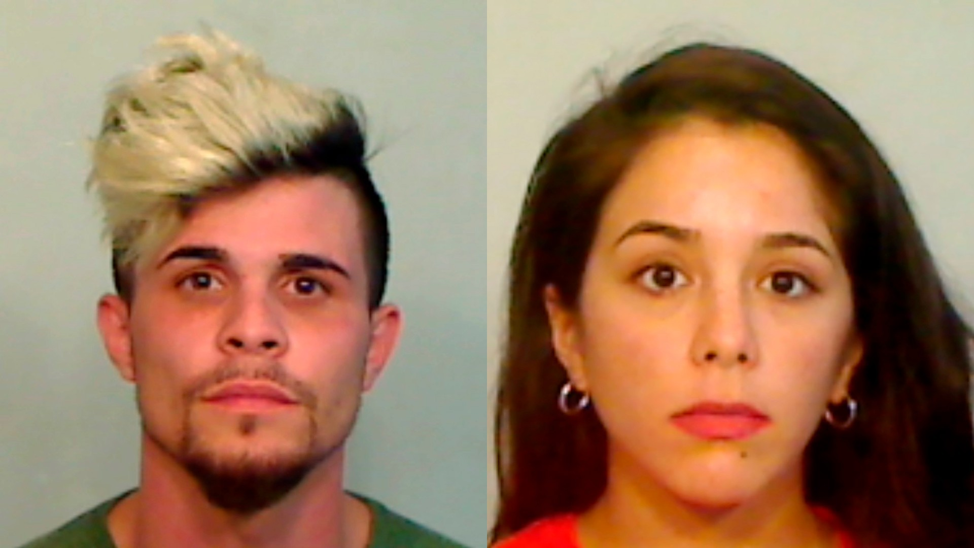 Jose Antonio Freire Interian, right, and Yohana Anahi Gonzalez, left, are seen in booking photos. (Monroe County Sheriff's Office via AP)