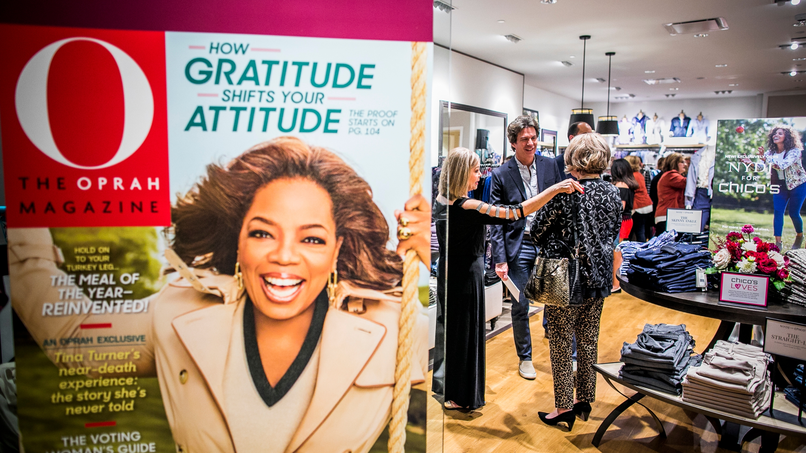 Adam Glassman, the former creative director at O Magazine, mingles with guests at Chico's Houston Galleria on Oct. 18, 2018 in Texas. (Drew Anthony Smith/Getty Images for Chico's)