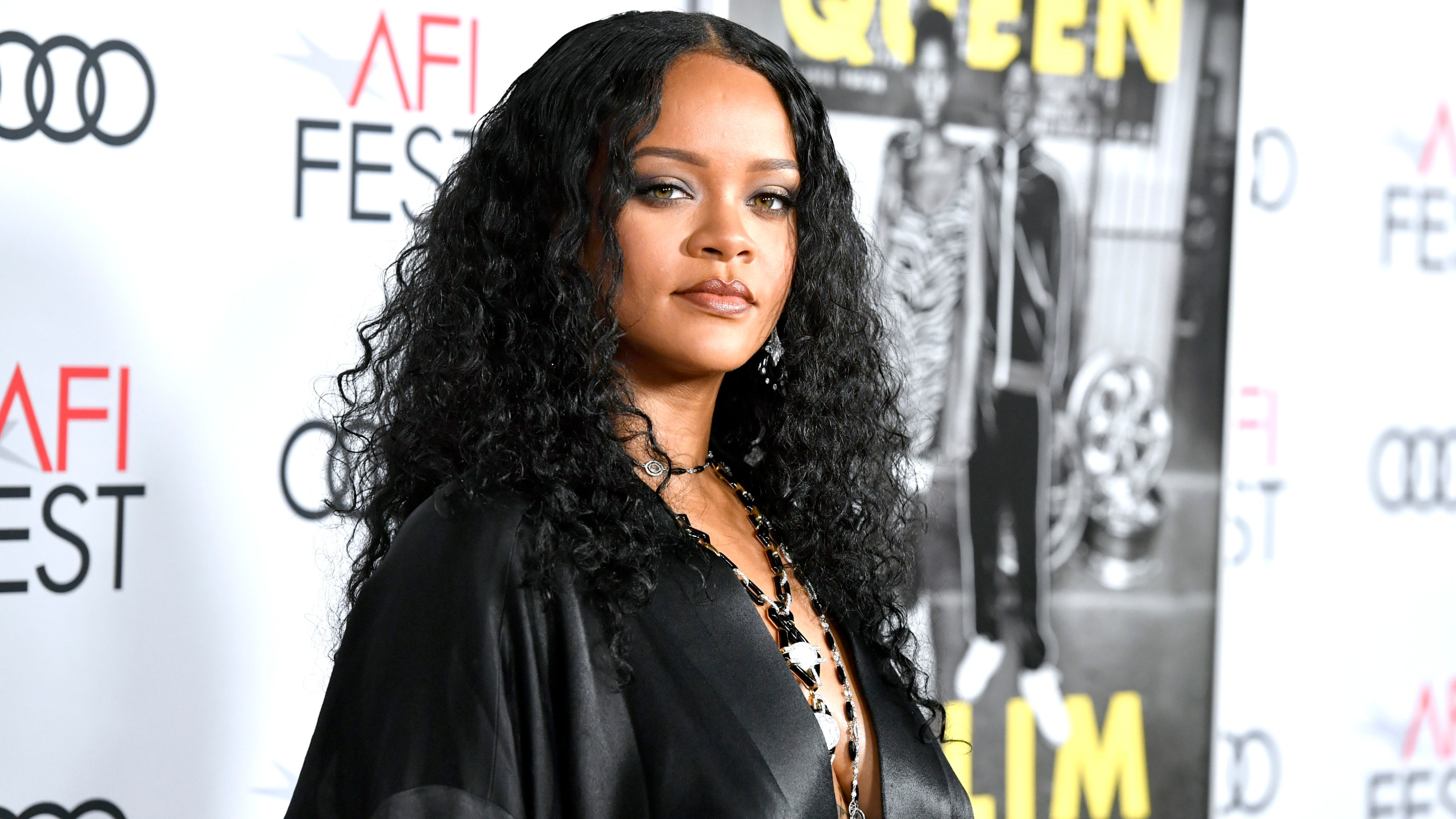 "Rihanna attends the ""Queen & Slim"" Premiere at AFI FEST 2019 presented by Audi at the TCL Chinese Theatre on Nov. 14, 2019 in Hollywood, Calif. (Frazer Harrison/Getty Images)"