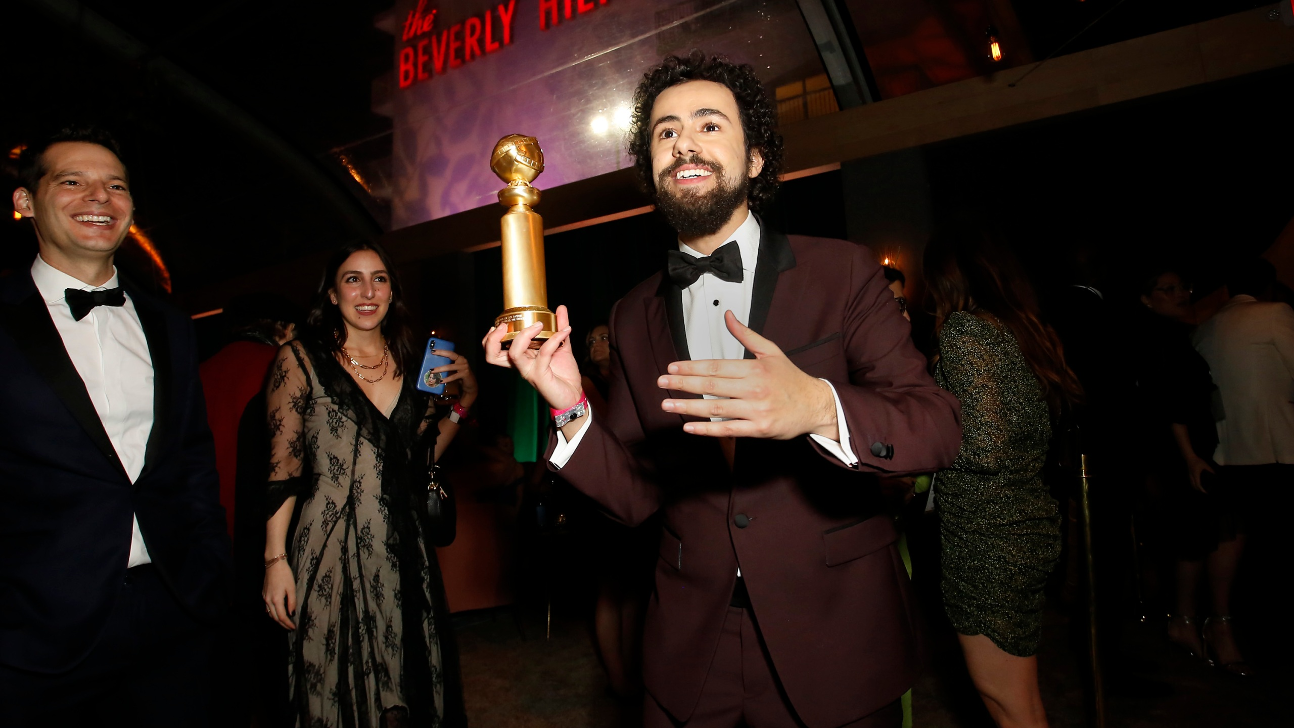 Ramy Youssef, Golden Globe winner for Best Performance by an Actor in a Television Series - Musical or Comedy, attends the 2020 Walt Disney Company Post-Golden Globe Awards Show celebration at The Beverly Hilton Hotel on January 5, 2020. (Rachel Murray/Getty Images for Hulu)