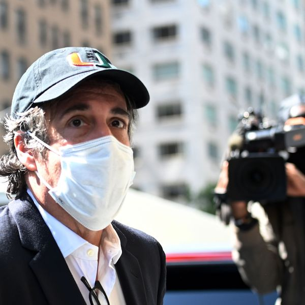 Michael Cohen, President Donald Trump's former personal attorney, arrives at his Park Avenue apartment in New York City on May 21, 2020. (Johannes Eisele / AFP / Getty Images)