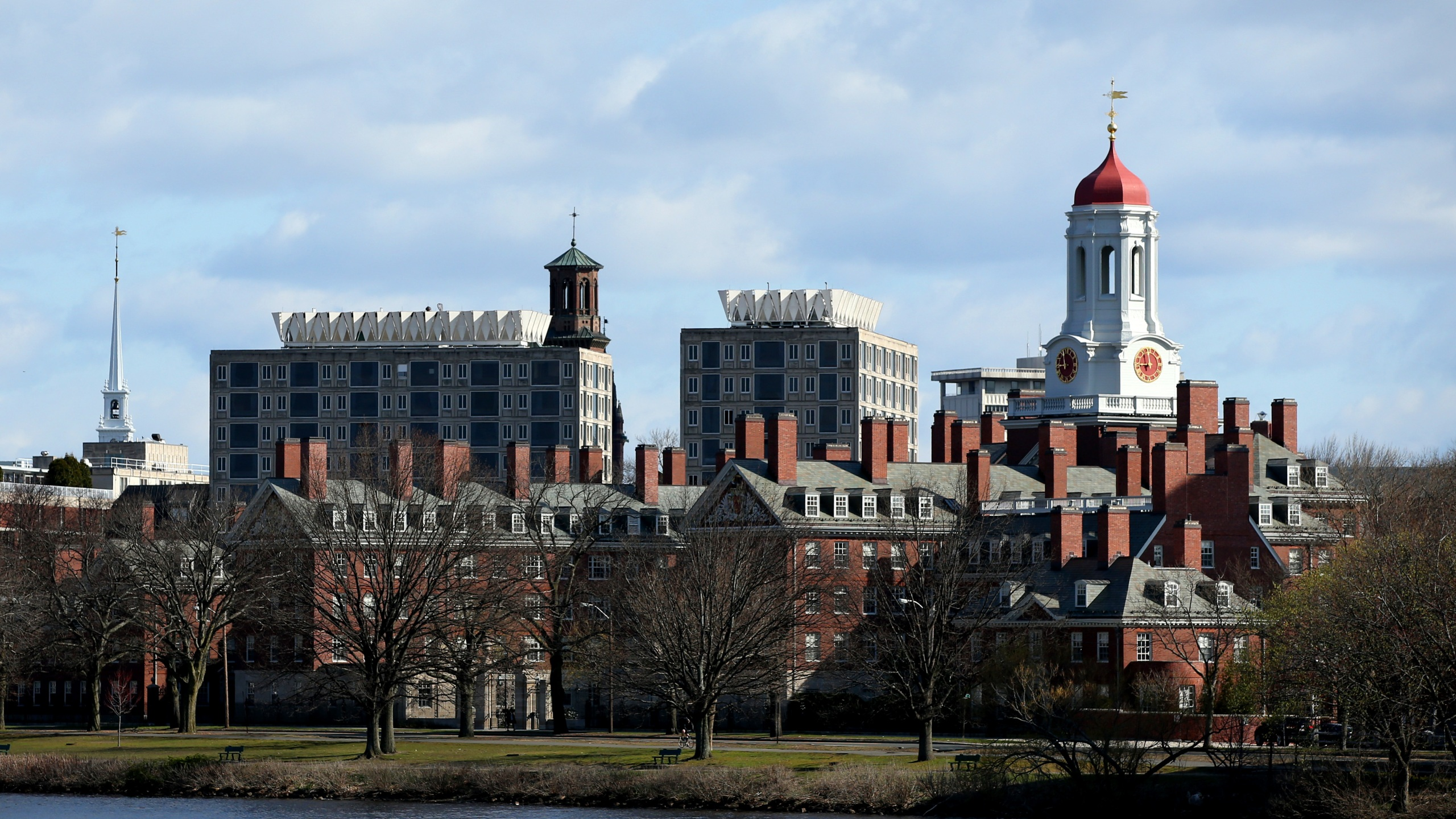 A general view of Harvard University campus is seen on April 22, 2020 in Cambridge, Massachusetts. (Maddie Meyer/Getty Images)