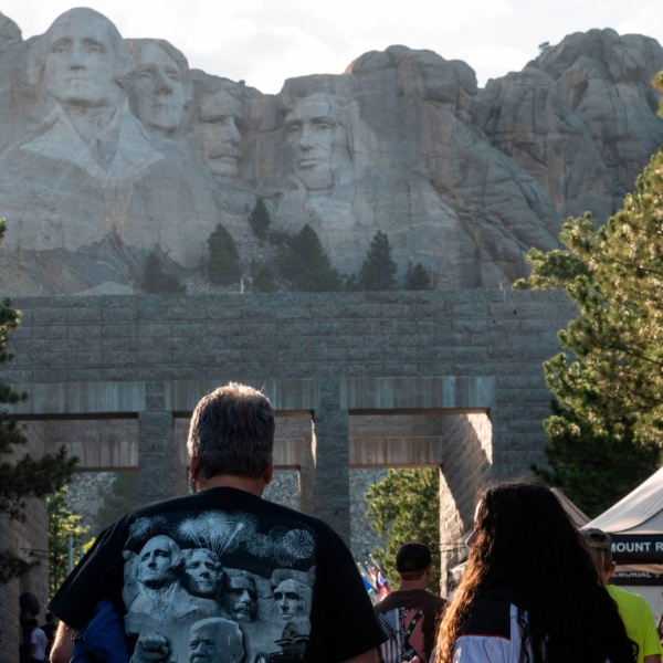 Visitors arrive to see the Mount Rushmore National Monument in Keystone, South Dakota, on July 2, 2020. (ANDREW CABALLERO-REYNOLDS/AFP via Getty Images)