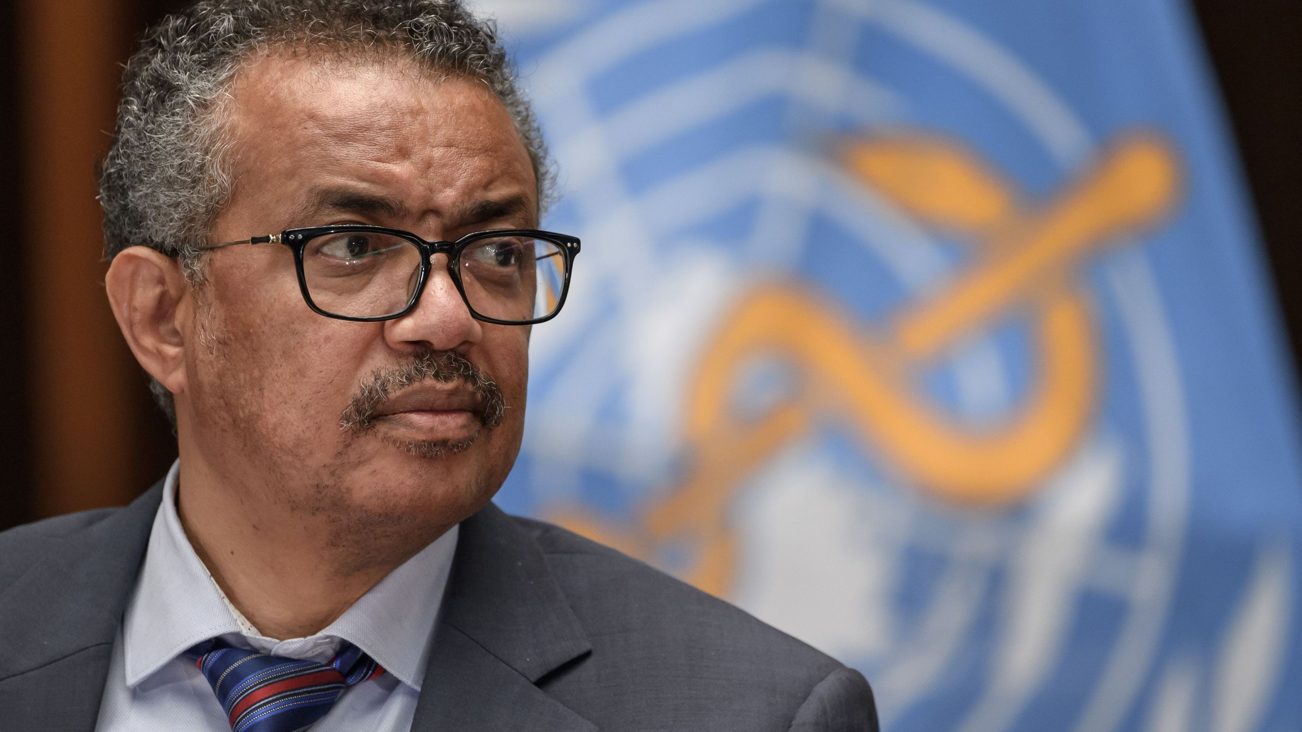World Health Organization (WHO) Director-General Tedros Adhanom Ghebreyesus attends a press conference organised by the Geneva Association of United Nations Correspondents (ACANU) amid the COVID-19 outbreak, caused by the novel coronavirus, on July 3, 2020 at the WHO headquarters in Geneva. (FABRICE COFFRINI/POOL/AFP via Getty Images)