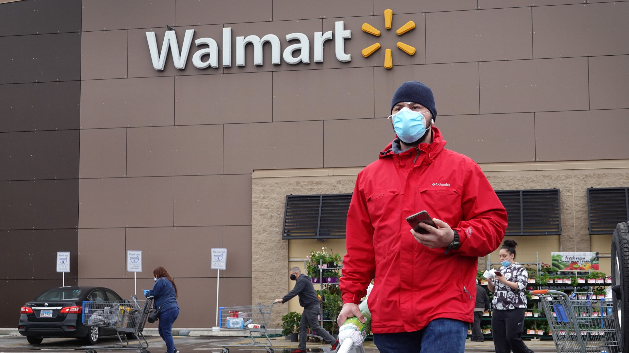 Customers shop at a Walmart store in Chicago in May. (Scott Olson/Getty Images)