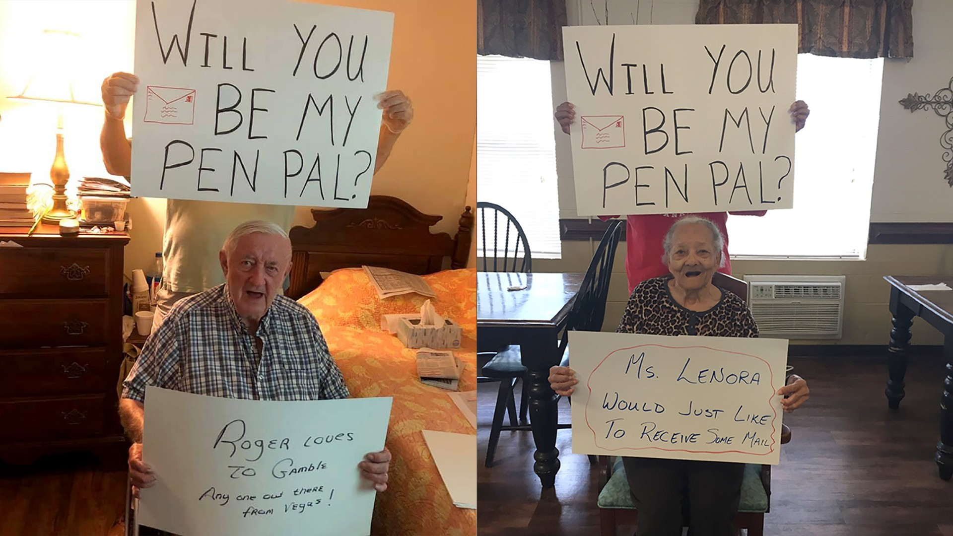 Residents at an assisted living facility are looking for pen pals during this time of isolation. (Victorian Senior Care)