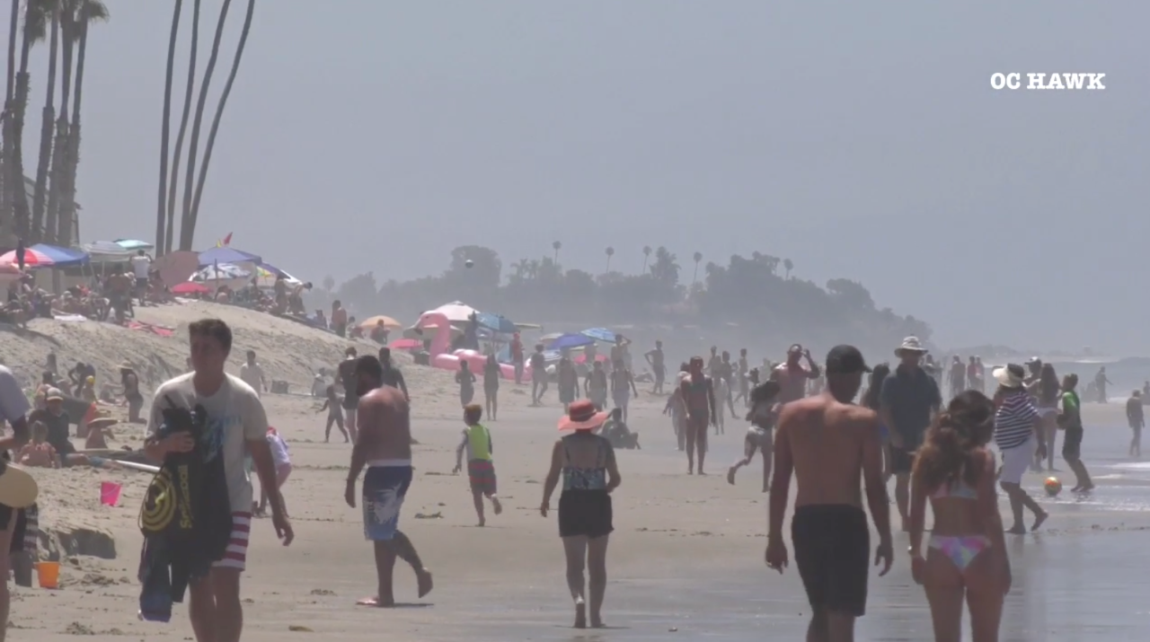 July 4 crowds pack San Clemente beach as other O.C. shores close