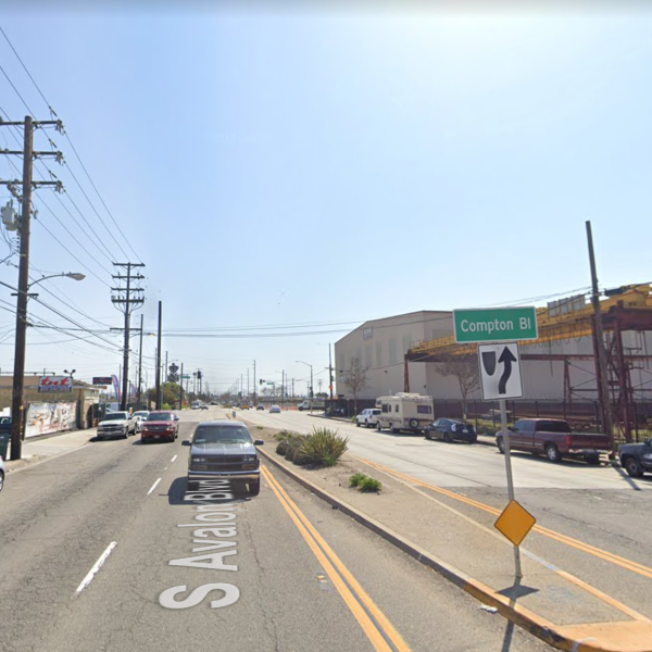 The 15000 block of South Avalon Boulevard appears in an image from Google Maps.