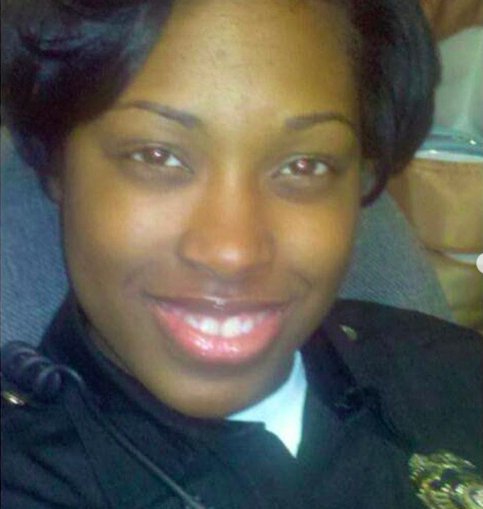 Senior Detention Officer Erica McAdoo is seen in a photo posted on the Instagram page for LAPD's Custody Services Division in April 2020.