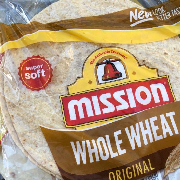 A pack of Mission Foods tortilla bread is seen in Los Angeles on July 27, 2020. (KTLA)