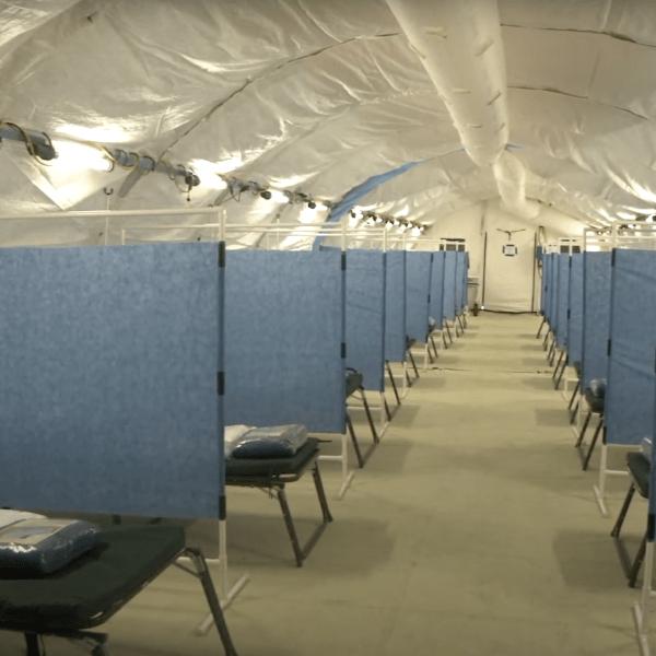 A San Bernardino County alternate care site for COVID-19 patients. (County of San Bernardino)