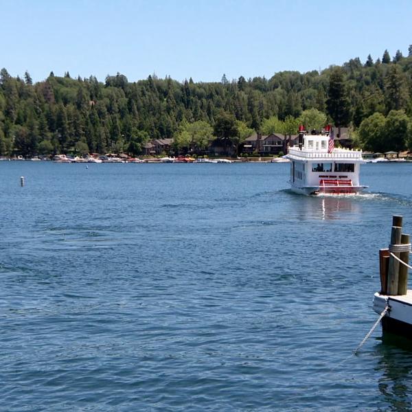 Lake Arrowhead is seen in an undated photo. (KTLA)