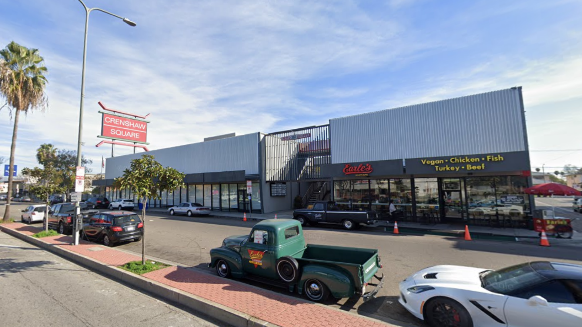 A Google Maps images shows Crenshaw Square.