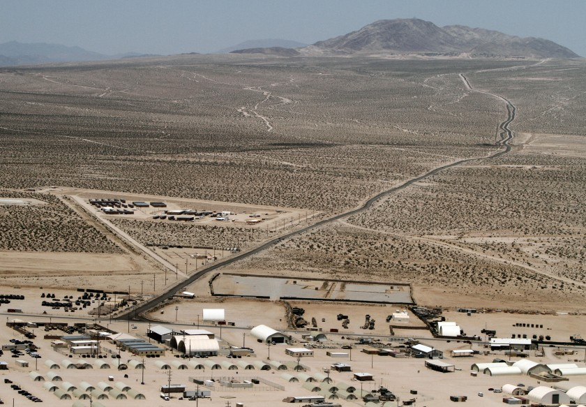 Twentynine Palms Marine combat training base is seen in 2011. (Don Bartletti / Los Angeles Times)