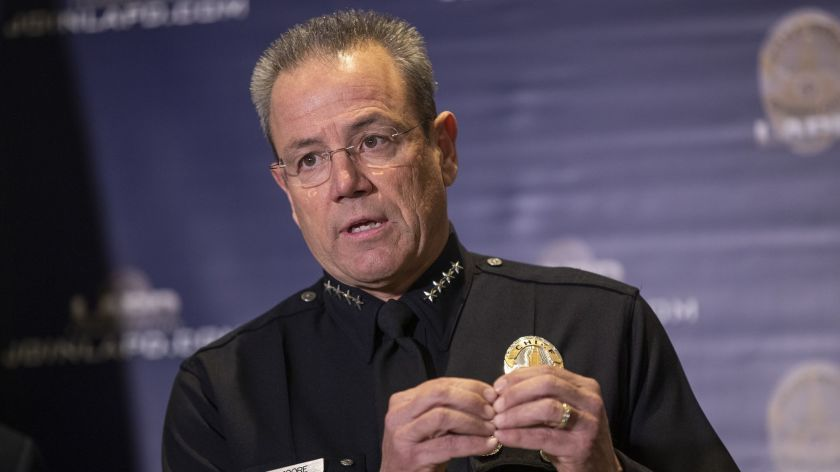 Los Angeles Police Chief Michel Moore is seen in an undated photo. Allen J. Schaben / Los Angeles Times)