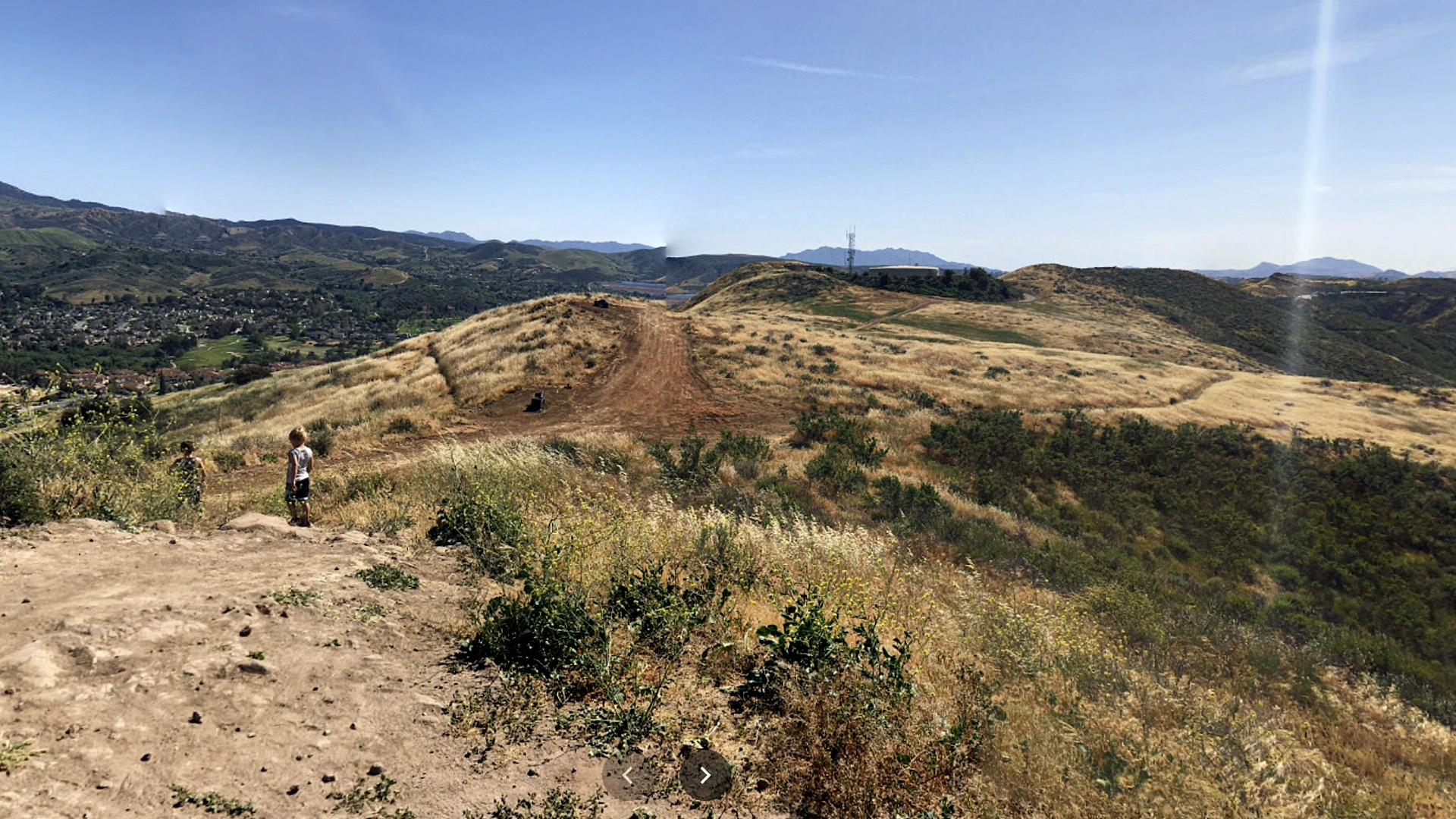 A trail leading to the Mt. McCoy Cross in Simi Valley is seen in this file image from Google Maps.