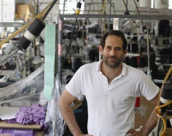 Dov Charney is seen at the American Apparel factory in downtown Los Angeles in 2012.(Los Angeles Times)