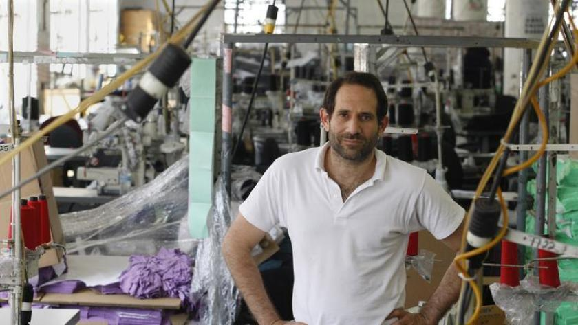 Dov Charney is seen at the American Apparel factory in downtown Los Angeles in 2012. (Los Angeles Times)