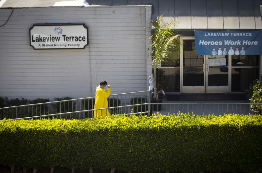 L.A. City Atty. Mike Feuer filed a lawsuit this week accusing Lakeview Terrace nursing home in Westlake of dumping patients and other wrongdoing.(Francine Orr / Los Angeles Times)