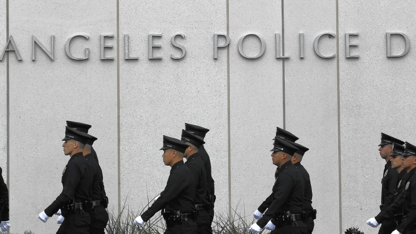Los Angeles Police Department headquarters. (Brian van der Brug / Los Angeles Times)