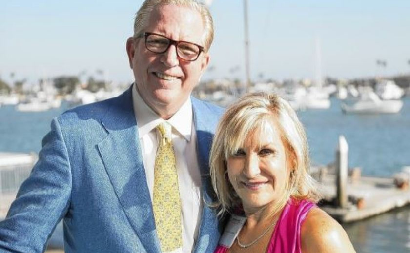 Karen Littlefair with her husband Andrew in 2014.(Daily Pilot via Los Angeles Times)