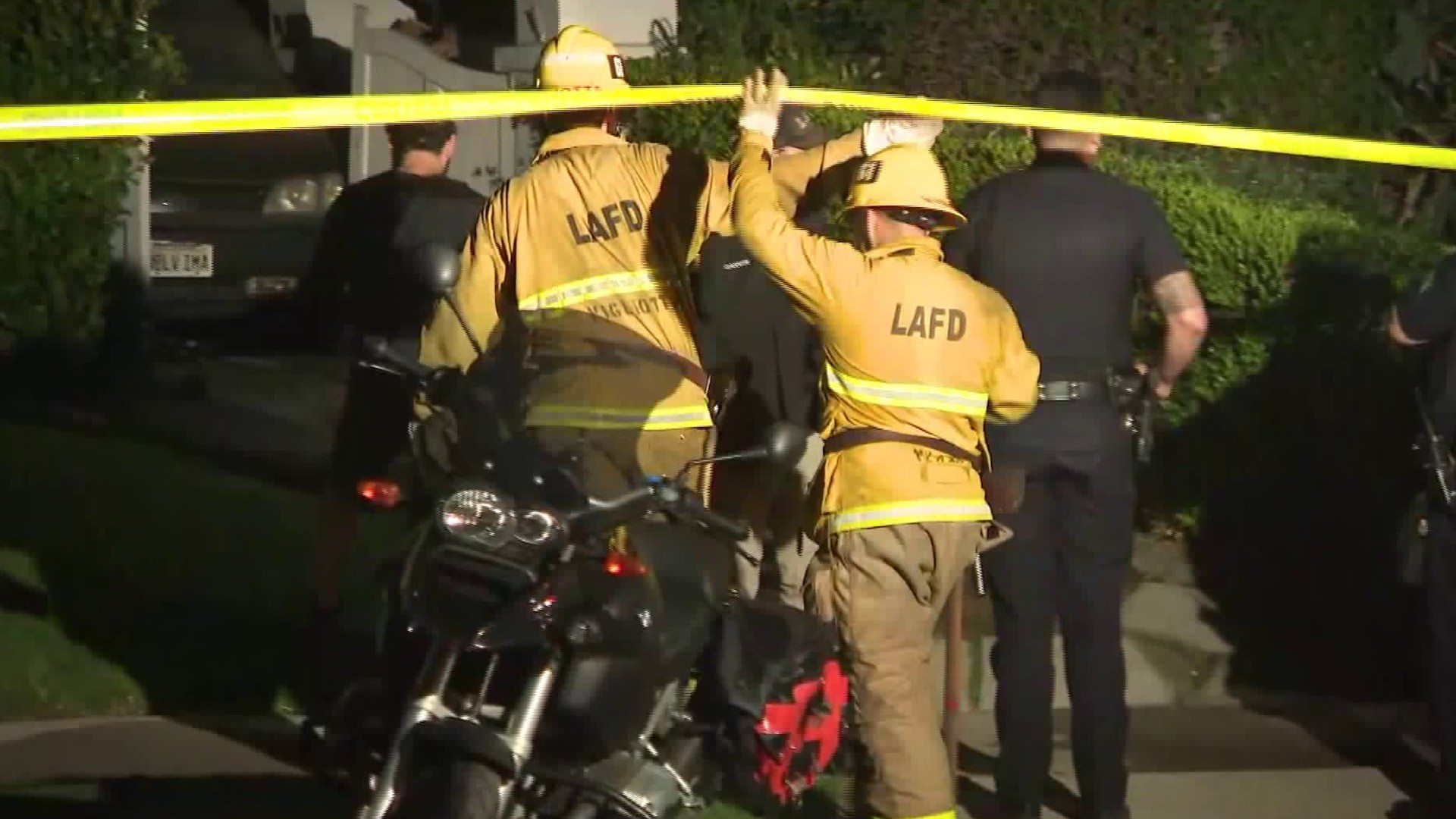 A body was discovered following a fire in the Fairfax neighborhood of Los Angeles on July 1, 2020. (KTLA)