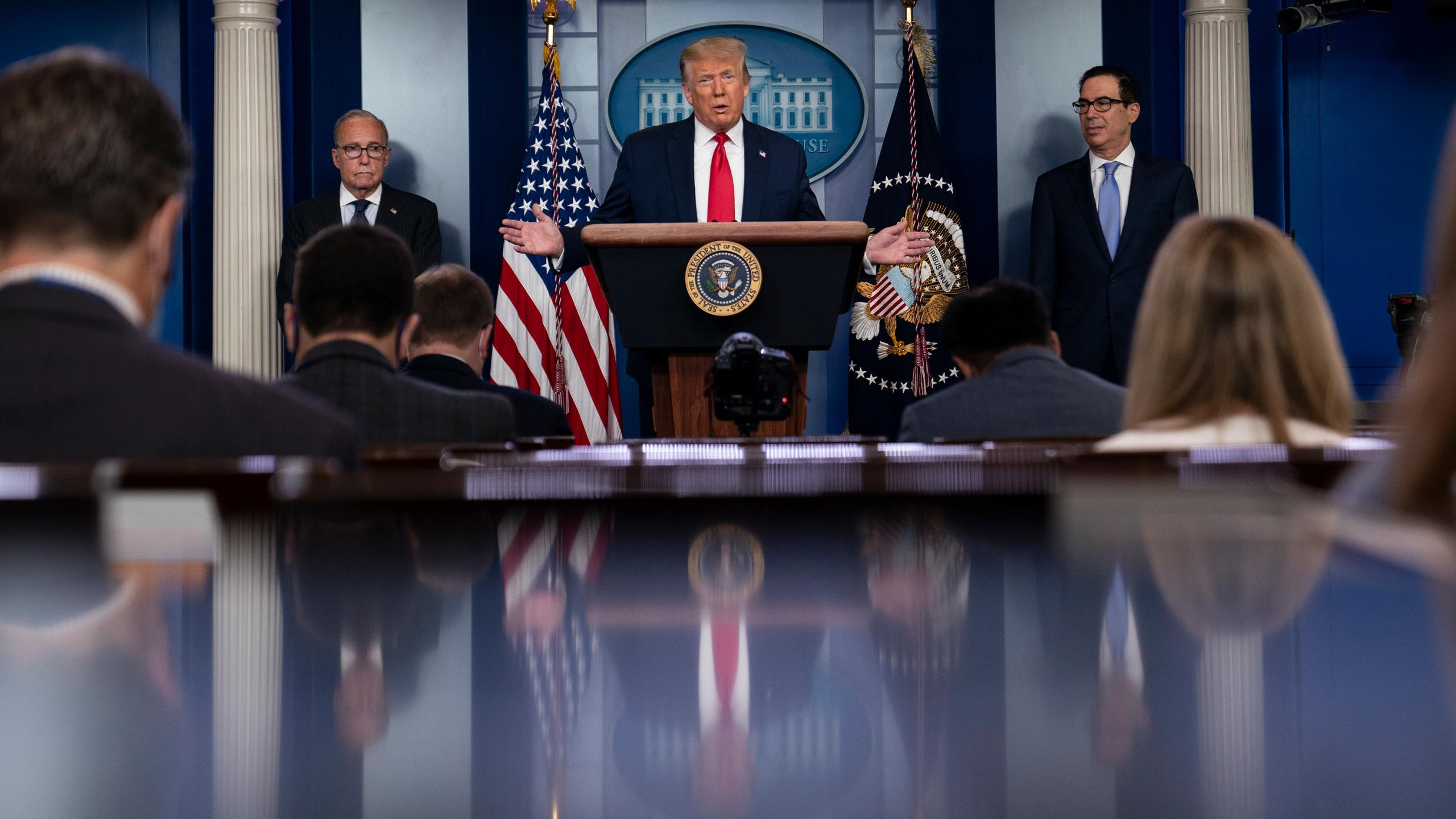 President Donald Trump on Saturday signed an extension of the Paycheck Protection Program into law, according to the White House. (Evan Vucci/AP via CNN Wire)
