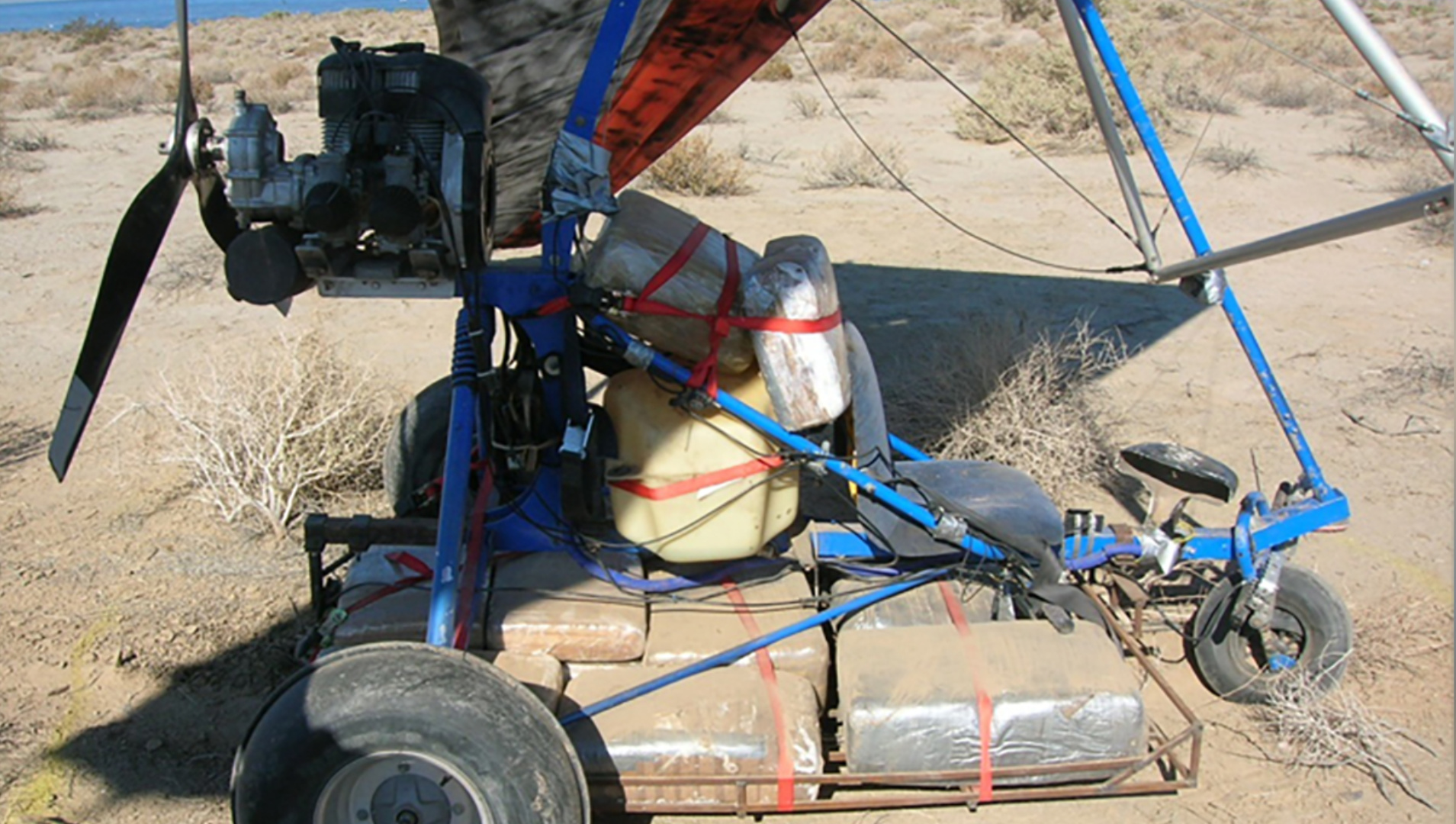 Customs and Border Protection shared this image to show an example of the type of ultralight aircraft intercepted July 11, 2020, by CBP agents.