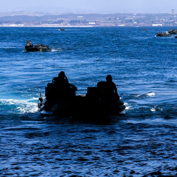 At least one Marine has died and eight others are missing after an accident involving an amphibious vehicle off the coast of Southern California. (Staff Sgt. Kassie McDole/U.S. Marine Corps via CNN Wire)