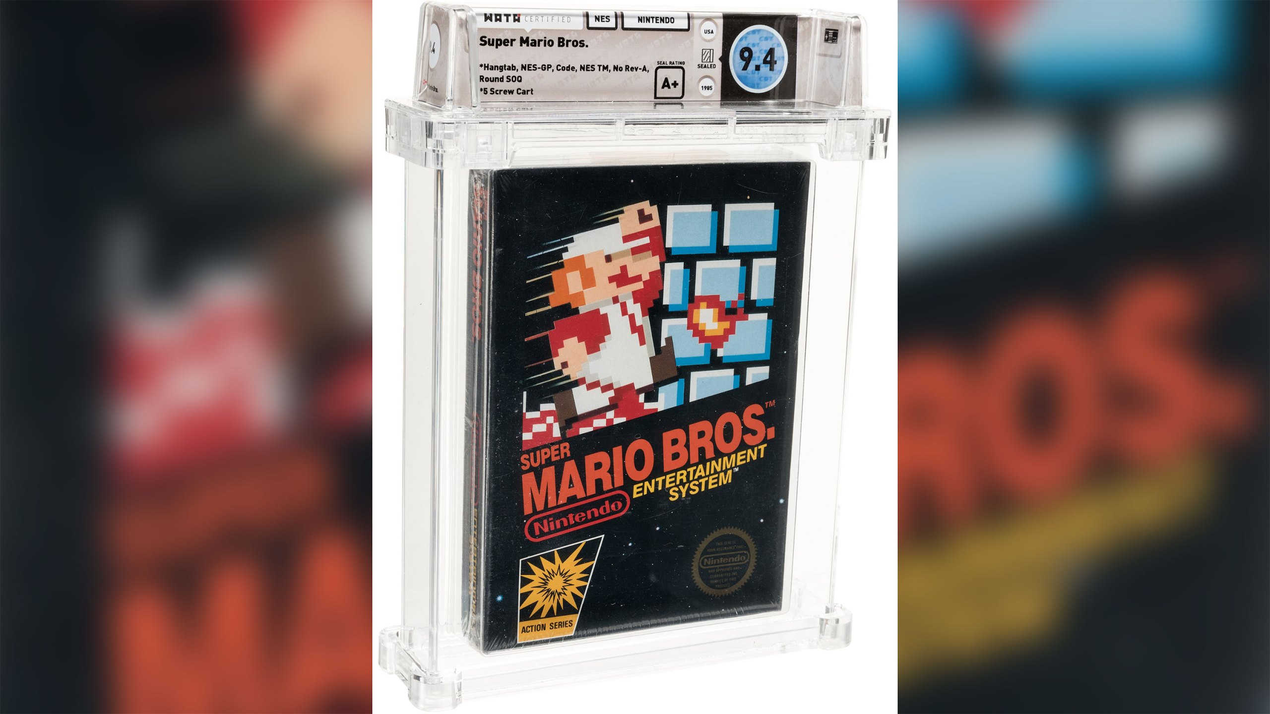 An unopened copy of the Super Mario Bros. video game sold for a record $114,000. (Heritage Auctions/HA.com via CNN)