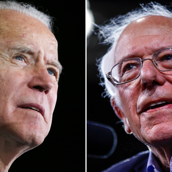 Presumptive Democratic nominee Joe Biden and and Sen. Bernie Sanders of Vermont are pictured. (Getty Images via CNN)