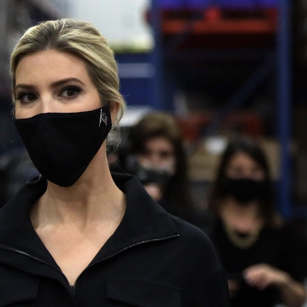 Ivanka Trump, first daughter and adviser to President Donald Trump, tours the distribution center of Coastal Sunbelt Produce May 15, 2020, in Laurel, Maryland. (Alex Wong/Getty Images)