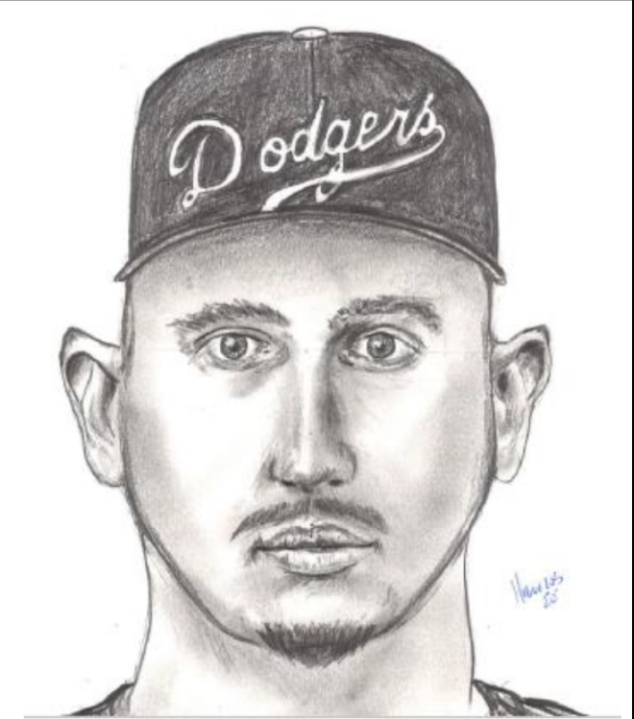 The suspect in an assault outside a San Juan Capistrano business is seen in a composite sketch released July 22, 2020, by the Orange County Sheriff's Department.