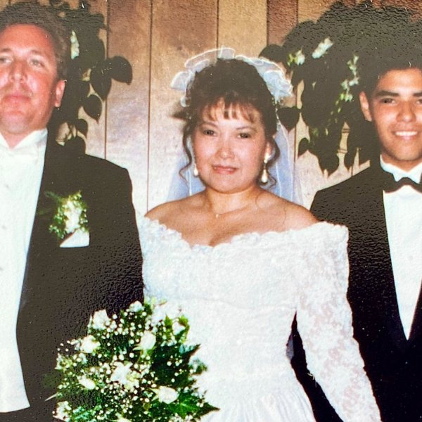 Mayor Robert Garcia tweeted a photo of his stepfather, Greg O'Donnell, and his mother, Gaby O'Donnell, from their wedding day.