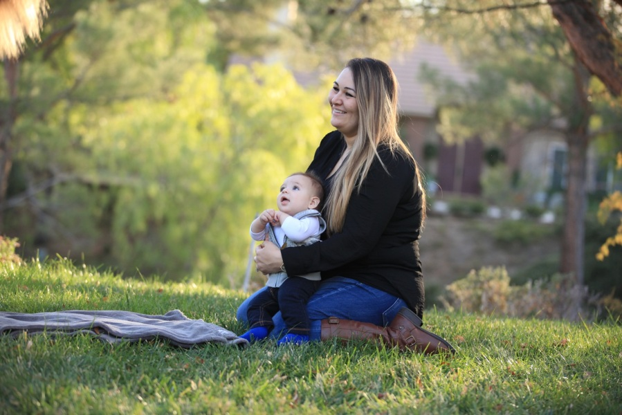 Jessica Pierson is seen with one of her sons in a photo her brother Tom Clemente posted to GoFundMe.