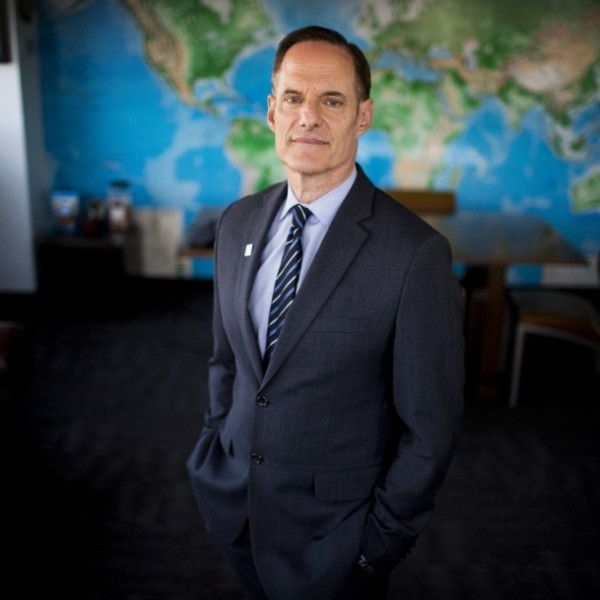 Michael Weinstein, president of AIDS Healthcare Foundation, shown at his office in Hollywood in 2017. (Barbara Davidson/Los Angeles Times)