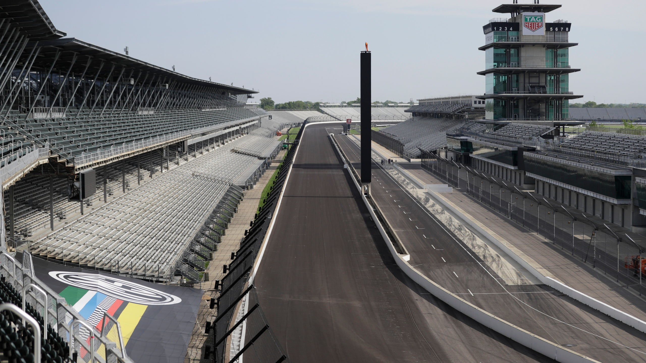 In this May 24, 2020, file photo, Indianapolis Motor Speedway sits empty in Indianapolis. (Darron Cummings/Associated Press)