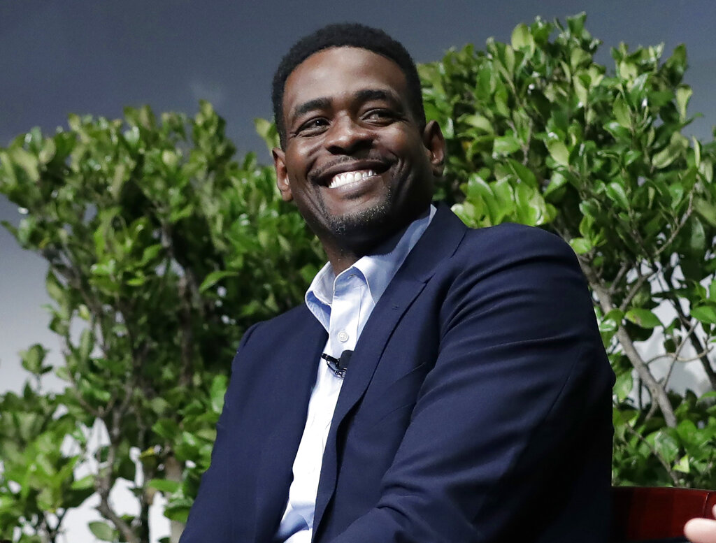 """In this Jan. 24, 2017, file photo, former NBA basketball player Chris Webber attends a sports and activism panel entitled """"From Protest to Progress: Next Steps"""" in San Jose, Calif. (AP Photo/Marcio Jose Sanchez, File)"""