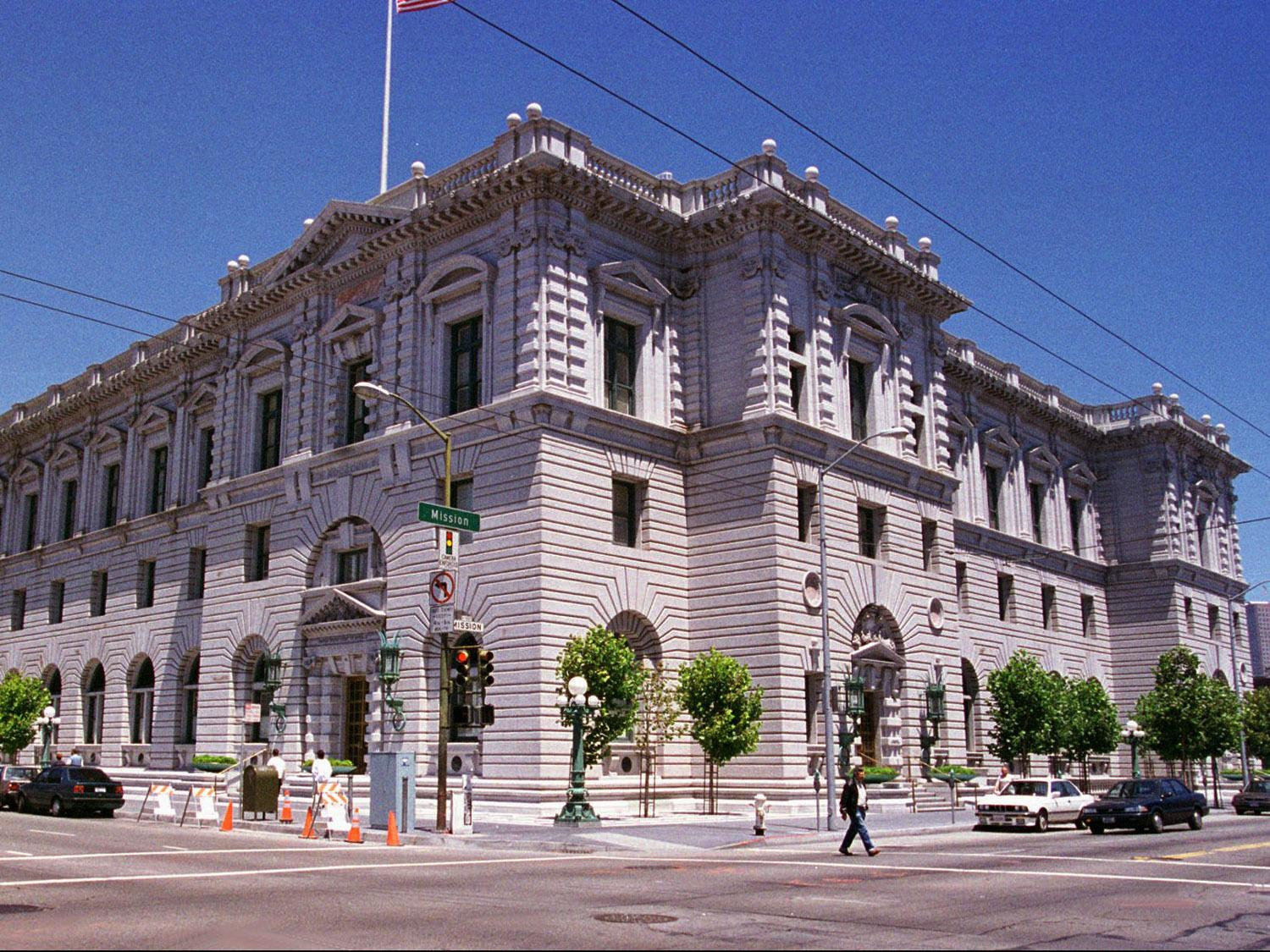 The 9th US Circuit Court of Appeals building in San Francisco is seen in a file photo. (Associated Press)
