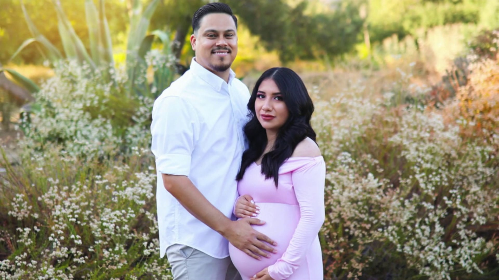 James Alvarez and Yesenia Aguilar are seen in a family photo provided to KTLA.