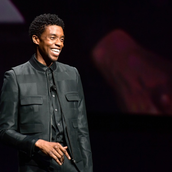 Chadwick Boseman speaks onstage at CinemaCon 2019 The State of the Industry and STXfilms Presentation at The Colosseum at Caesars Palace during CinemaCon, the official convention of the National Association of Theatre Owners, on April 2, 2019 in Las Vegas, Nevada. (Matt Winkelmeyer/Getty Images for CinemaCon)
