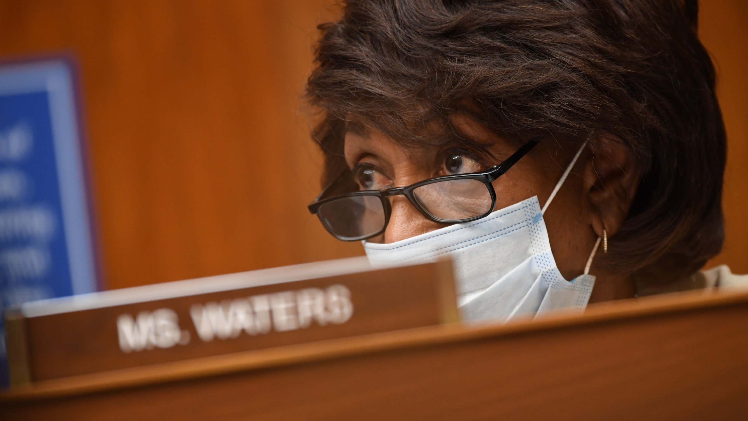 Rep. Maxine Waters (D-CA) listens to testimony during a House Subcommittee on the Coronavirus Crisis hearing on Capitol Hill on July 31, 2020 in Washington, D.C. (Kevin Dietsch-Pool/Getty Images)