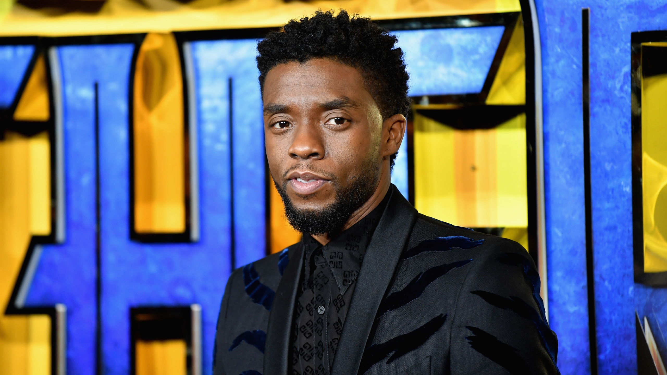 """Chadwick Boseman attends the European Premiere of Marvel Studios' """"Black Panther"""" at the Eventim Apollo, Hammersmith on February 8, 2018, in London, England. (Gareth Cattermole/Getty Images for Disney)"""