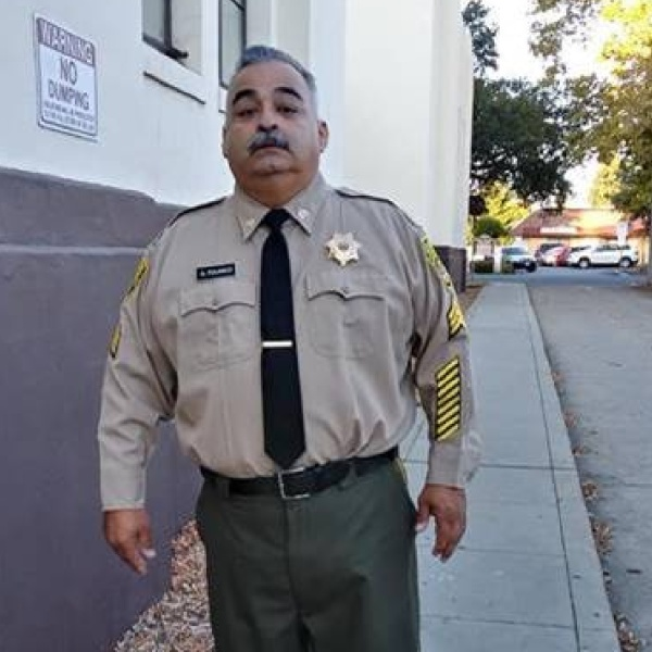 sgt. Gilbert Polanco is seen in an undated photo released by the California Department of Corrections and Rehabilitation.