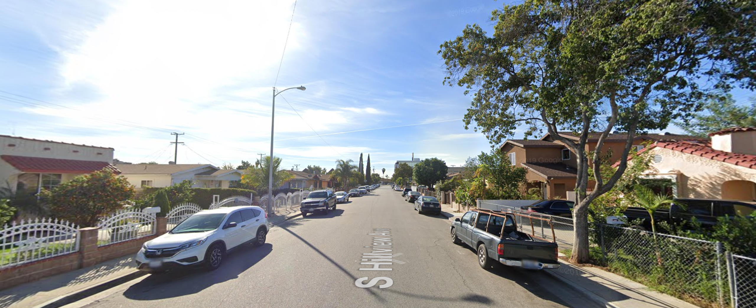 The 700 block South Hillview Avenue in East Los Angeles is seen in an undated photo from Google Maps street view.
